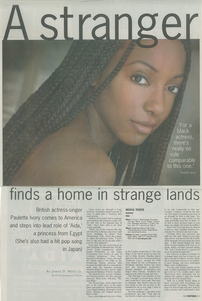 Paulette Ivory Newspaper Article